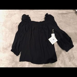 Black CeCe Blouse - Great Date Night Top!